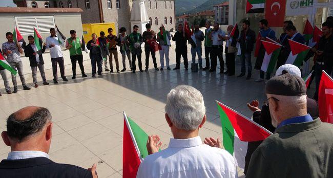 KARABÜK'TE İSRAİL PROTESTOSU